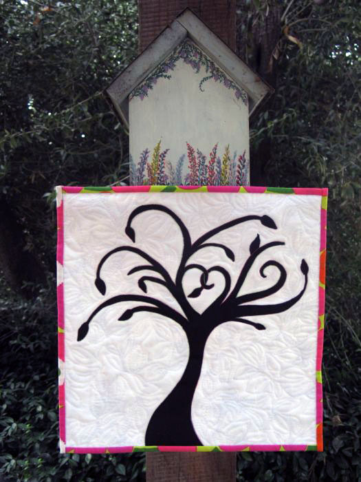 One Black Leaf art quilt1