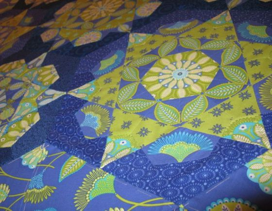 EPP quilt angle shot