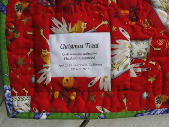Christmas Treat label