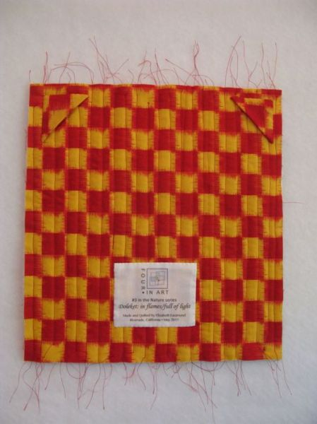 Doleket Art Quilt-back