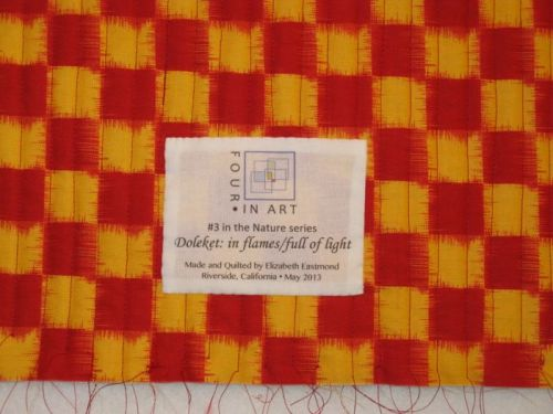 Doleket Art Quilt-label