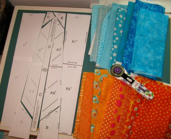Laying Out Feather Fabrics