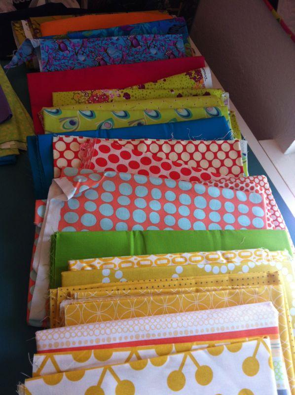 Pulling fabrics