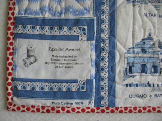 Spoolin Around Quilt Label