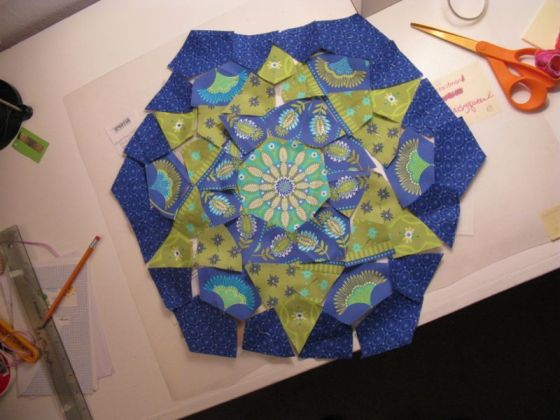 Kaleidoscope first block cut
