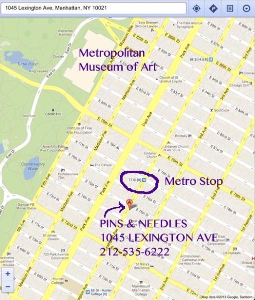 Map to PinsNeedles