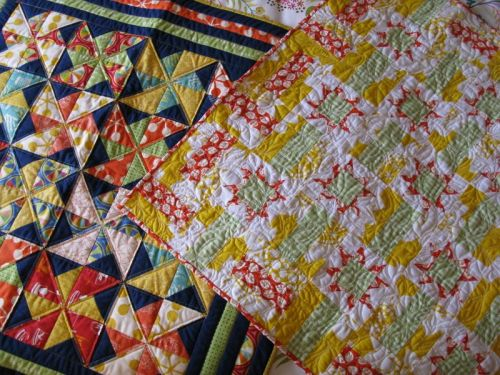 Citrus and Village Faire quilts