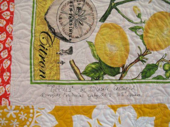 Citrus quilt Label