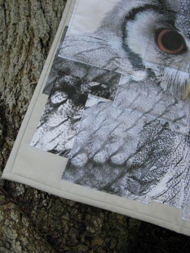 Congruence Owl quilt 5 textures