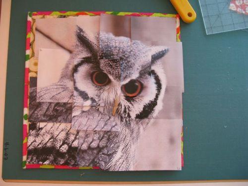 Congruence Owl quilt construction 1