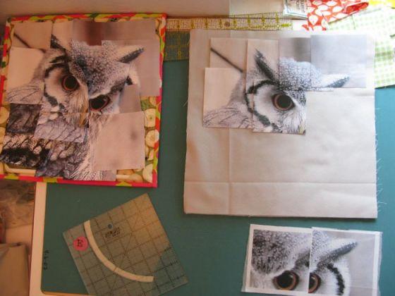 Congruence Owl quilt construction 3