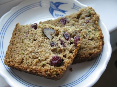 Zucchini Cranberry Walnut Bread