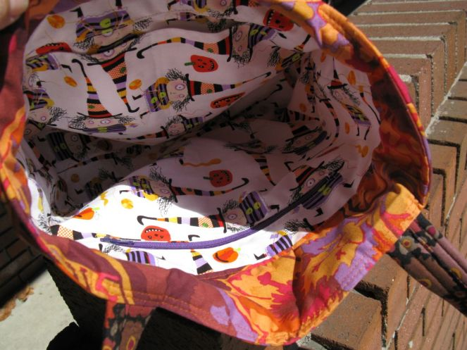 Autumn Tote Bag Interior
