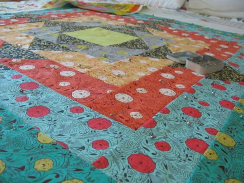 Facets Quilt pinned