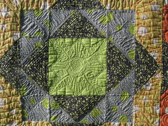 Quilt in high relief