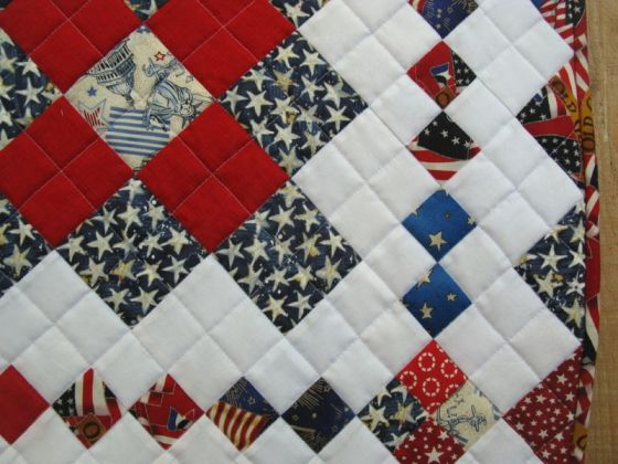 America is a Tune_quilt front detail
