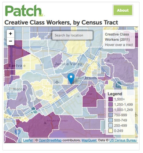 Creative Class Workers by Census Map