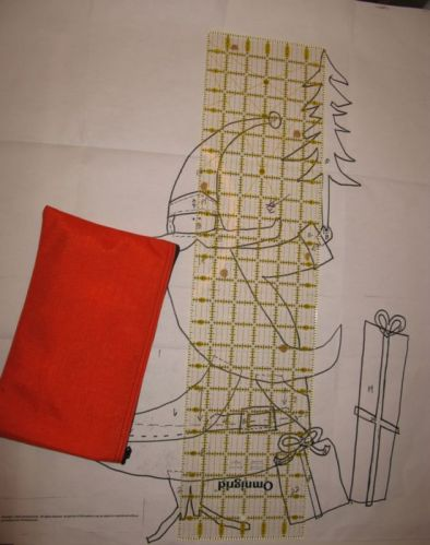 Santa Quilt measuring