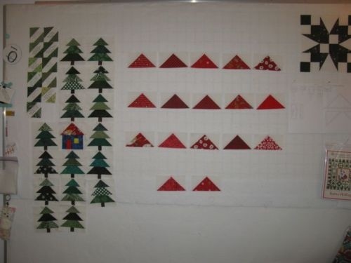 SantasVillage quilt pieces