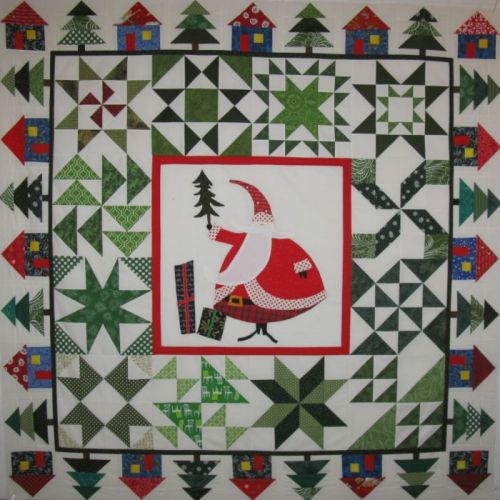 SantasVillage quilt top