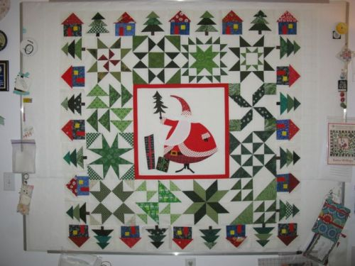 SantasVillage quilt_partial