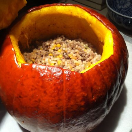 Stuffed Pumpkin_open