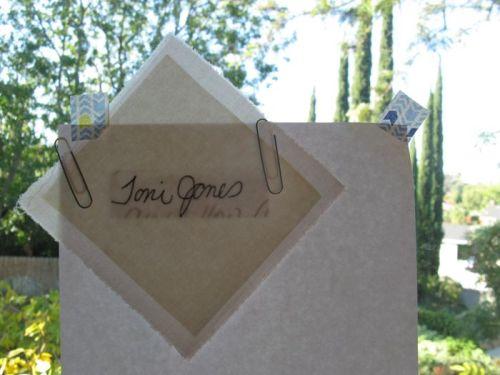 Tracing Toni's Name