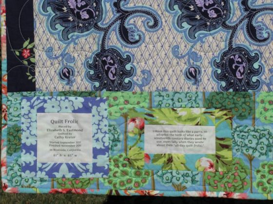 Quilt Frolic_label