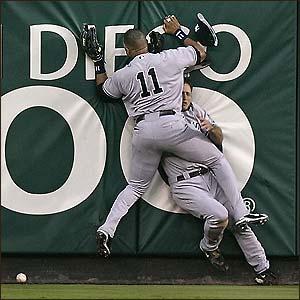 hitting the wall baseball players