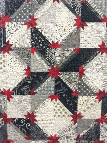 Hunters Star quilt detail