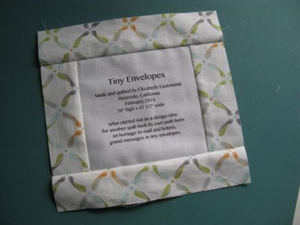 Making a Quilt Label 4