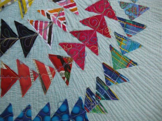 OlympicGeese Quilt_detail