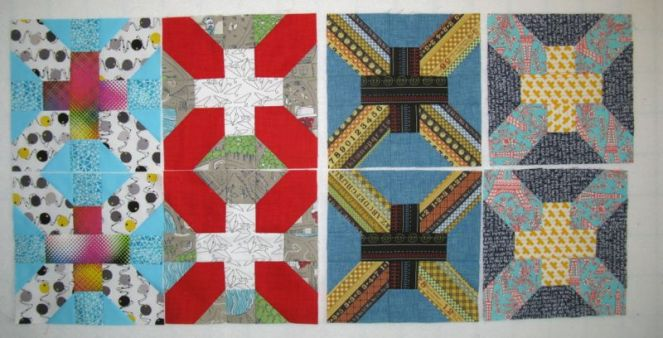 April Cross-X Quilt Blocks4