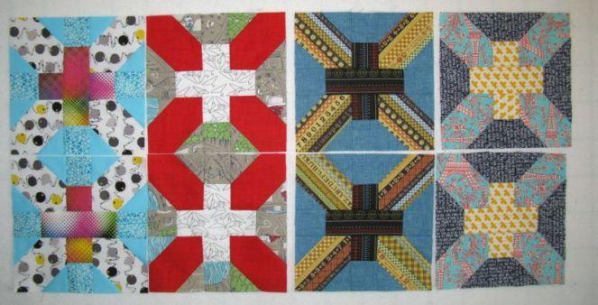 April Cross-X Quilt Blocks4