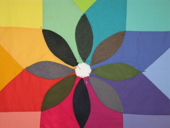 Center Greens of Rainbow Petals