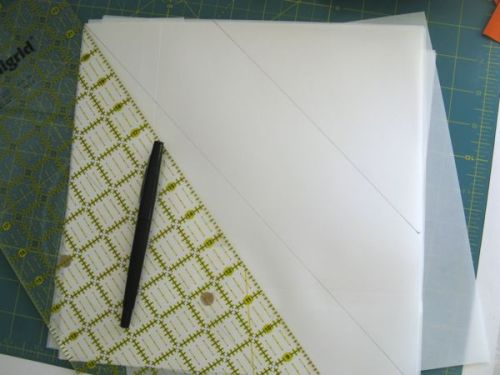 Drawing Lines on Vellum for Quilt Block