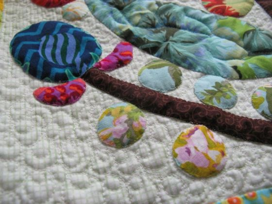 Lollypop Tree Quilting detail_2