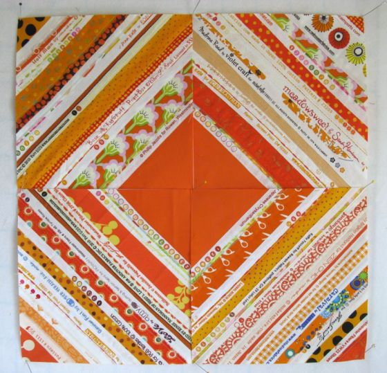Selvage Quilt Block_orange