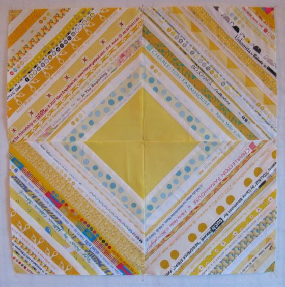 Selvage Quilt Block_yellow
