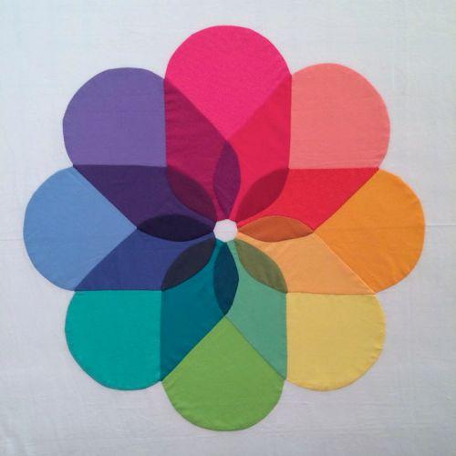 Colorwheel Bloom Quilt Top