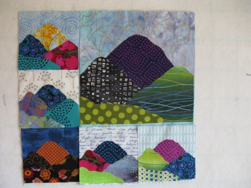 Layered Fabrics Changes Art Quilt