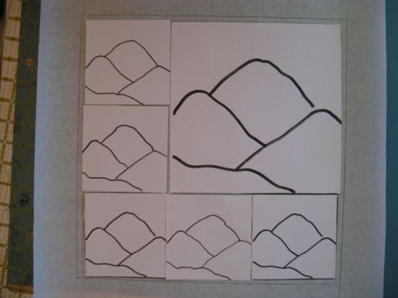 Layout for quilt