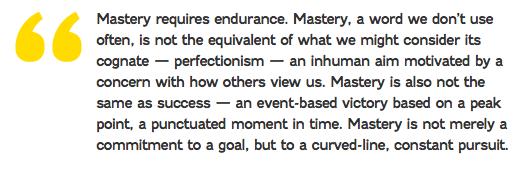 Mastery Quote