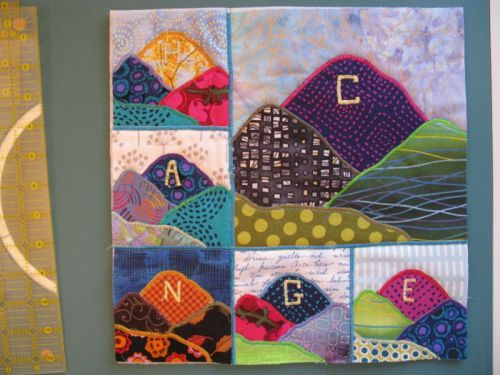Quilted and Trimmed Art Quilt