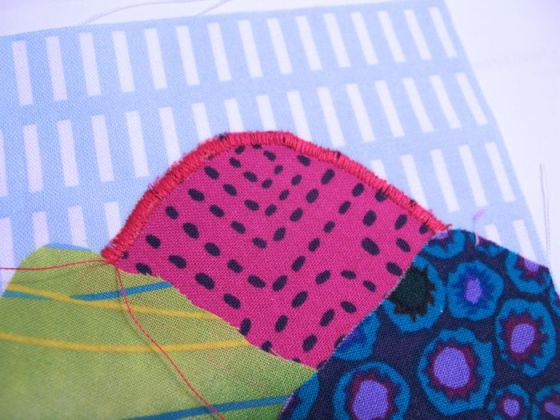 Satin Stitching Changes Art Quilt