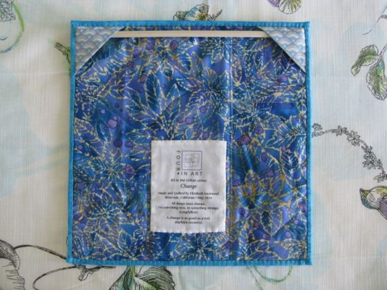 Change Art Quilt_back