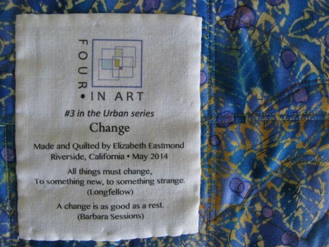 Change Art Quilt_label detail
