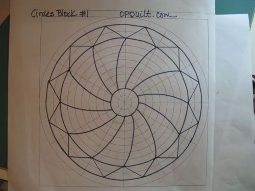 Circle Quilt Block #1 drawing_2