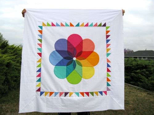 Colorwheel Blossom Quilt Top