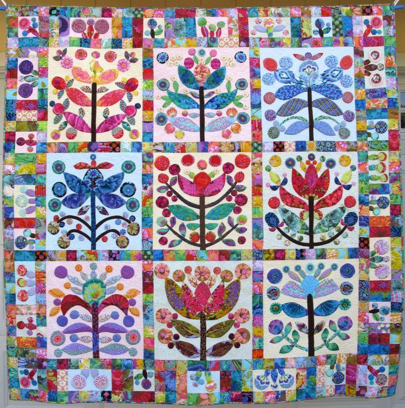 Kim Mclean Quilt Patterns.Elizabeth S Lollypop Trees Quilt Occasionalpiece Quilt